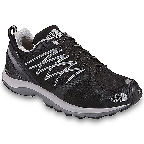 Free Shipping. The North Face Men's Double-Track Guide GTX Shoe DECENT FEATURES of The North Face Men's Double-Track Guide GTX Shoe Upper: Gore-Tex Extended Comfort Range waterproof, breathable membrane Abrasion-resistant, tight-weave mesh Welded TPU overlays for midfoot support C-Delta metatarsal fit system Perforated EVA Northotic footbed TPU heel and dual-injection-molded Eva Cradle Guide midsole platform 20 mm/12 mm heel/forefoot heights TPU Snake Plate forefoot protection Tenacious Grip sticky rubber outsole The SPECS Approx Weight: 1/2 pair: 13 oz / 368 g, pair: 1 lb 10 oz / 736 g This product can only be shipped within the United States. Please don't hate us. - $154.95