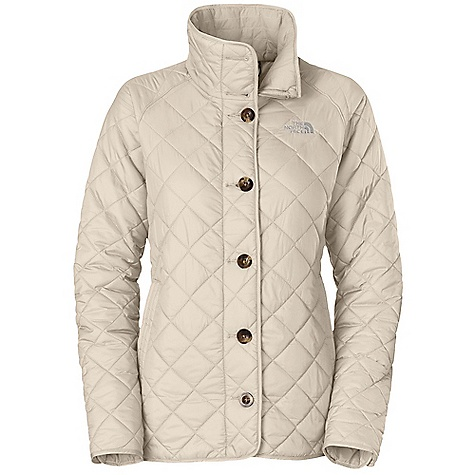 Free Shipping. The North Face Women's Marlena Jacket DECENT FEATURES of The North Face Women's Marlena Jacket Imported Oversized collar Diamond quilting Internal media pocket Welted zip hand pockets Center front zip with button placket Button placket at cuffs Button tab detail at back Embroidered logo at left chest and back right shoulder The SPECS Average Weight: 17 oz / 470 g Center Back Length: 26in. Body: 40D 60 g/m2 100% nylon taffeta with DWR Lining: 40D 70 g/m2 100% nylon taffeta Insulation: 120 g Heatseeker Eco This product can only be shipped within the United States. Please don't hate us. - $148.95