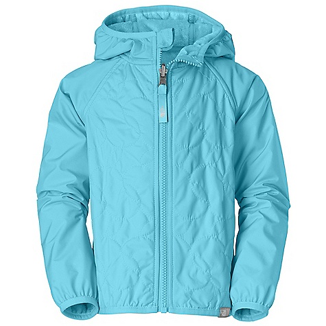 Free Shipping. The North Face Toddler Girls' Lil' Breeze Wind Jacket DECENT FEATURES of The North Face Toddler Girls' Lil' Breeze Wind Jacket Fixed hood Quilting through body Reflective zip pull at center front Elastic binding at hood, cuffs and hem ID label Logo clip label at hem Contains 53% recycled content by weight Imported The SPECS Average Weight: 8.11 oz / 230 g Center Back Length: 15.25in. Body: 50D 76 g/m2 100% recycled polyester taffeta with DWR (bluesign approved fabric) Lining: 230 g/m2 100% polyester highpile Silken fleece This product can only be shipped within the United States. Please don't hate us. - $69.95