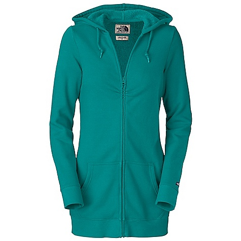 Free Shipping. The North Face Women's 3-4 Zip Skyline Hoodie DECENT FEATURES of The North Face Women's 3/4 Zip Skyline Hoodie Slim-fitting tunic hoodie Drawstring hood Three-quarter center front zip with slight shirring at chest Kangaroo hand pockets Wide 1x1 ribbing at cuff and hem Faux leather logo patch on cuff The SPECS Average Weight: 18 oz / 500 g Center Back Length: 29.25in. 250 g/m2 69% cotton, 31% polyester fleece This product can only be shipped within the United States. Please don't hate us. - $64.95