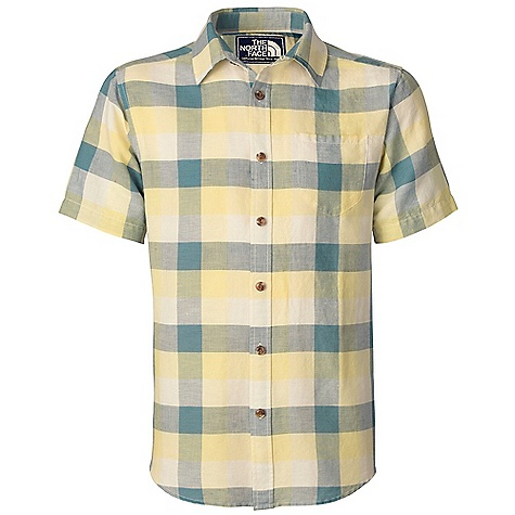 Fitness Free Shipping. The North Face Men's S-S Spearton Shirt DECENT FEATURES of The North Face Men's Short Sleeve Spearton Shirt Single patch-on chest pocket Cross-cut back yoke Hem tabs Logo patch at inside placket Imported The SPECS Average Weight: 6.35 oz / 180 g High Point Shoulder: 30in. Body: 125 g/m2 55% linen, 45% cotton yarn-dyed slub plaid Finish: Garment washed This product can only be shipped within the United States. Please don't hate us. - $54.95
