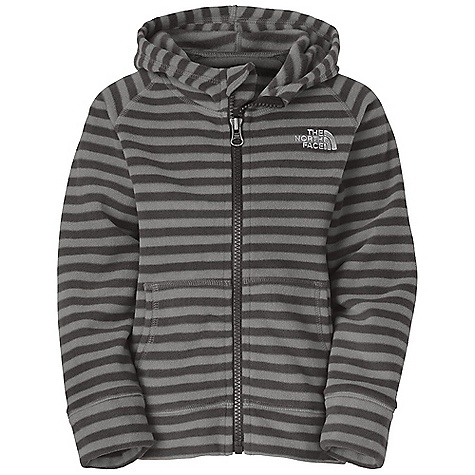 The North Face Toddler Boys' Stripe Glacier Full Zip Hoodie DECENT FEATURES of The North Face Toddler Boys' Stripe Glacier Full Zip Hoodie Extremely durable, pill-resistant surface Lightweight warmth Kangaroo hand warmer pockets Embroidered logo at left chest Imported The SPECS Average Weight: 6.35 oz / 180 g Center Back Length: 15.125in. 214 g/m2 100% polyester printed fleece This product can only be shipped within the United States. Please don't hate us. - $39.95
