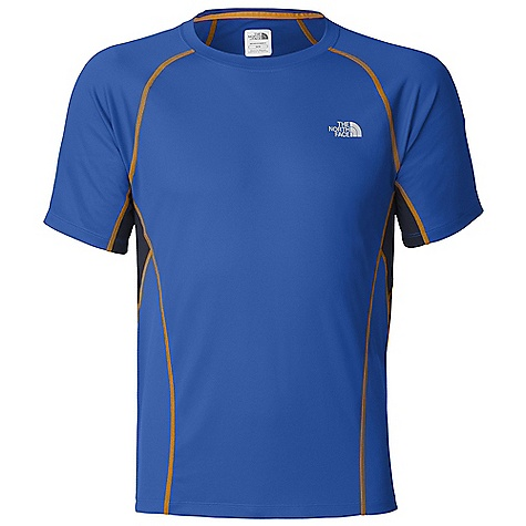 On Sale. The North Face Men's GTD S-S Top DECENT FEATURES of The North Face Men's GTD Short Sleeve Top Body-mapped ventilation Pieced collar Reflective logos The SPECS Center Back Length: 27in. Body: 105 g/m2 100% polyester double-knit with Flash Dry Panel: 141 g/m2 100% polyester tricot This product can only be shipped within the United States. Please don't hate us. - $31.96