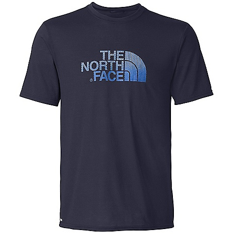 On Sale. The North Face Men's S-S Graphic Reaxion Crew Top DECENT FEATURES of The North Face Men's Short Sleeve Graphic Reaxion Crew Top Soft, ultralight fabric Relaxed fit Set-in sleeves Drop-tail hem Locker loop The SPECS Center Back Length: 27.5in. 140 g/m2 100% polyester jersey This product can only be shipped within the United States. Please don't hate us. - $19.96