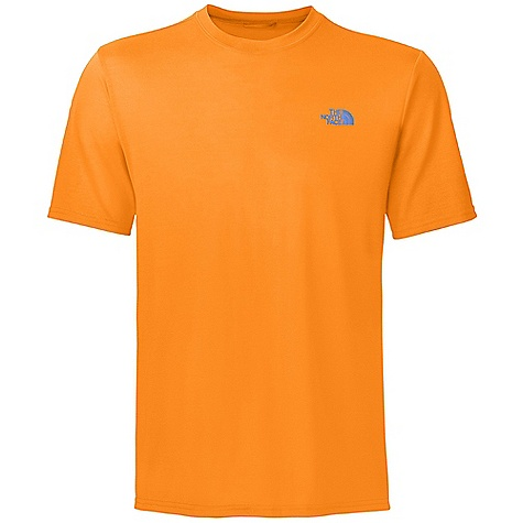 Fitness On Sale. The North Face Men's S-S Reaxion Crew Top DECENT FEATURES of The North Face Men's Reaxion Short Sleeve Crew Top Soft cotton hand feel Relaxed fit Set-in sleeves Drop-tail hem Locker loop The SPECS Center Back Length: 27.5in. 140 g/m2 100% polyester jersey This product can only be shipped within the United States. Please don't hate us. - $19.96