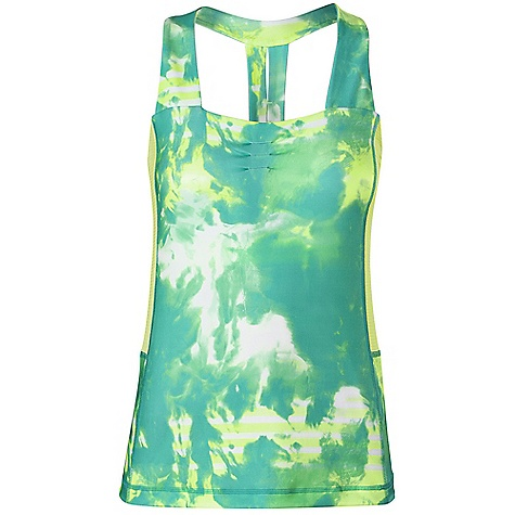 Fitness Free Shipping. The North Face Women's Tadasana VPR Printed Sport Tank DECENT FEATURES of The North Face Women's Tadasana VPR Printed Sport Tank Recycled fabric Body-mapped ventilation Constructed bra with modesty paneling Ruching at center front All-over print The SPECS Center Back Length: 22.5in. Body: 251 g/m2 92% recycled polyester, 8% Lycra elastane Panel: 140 g/m2 90% polyester, 10% elastane mesh This product can only be shipped within the United States. Please don't hate us. - $54.95