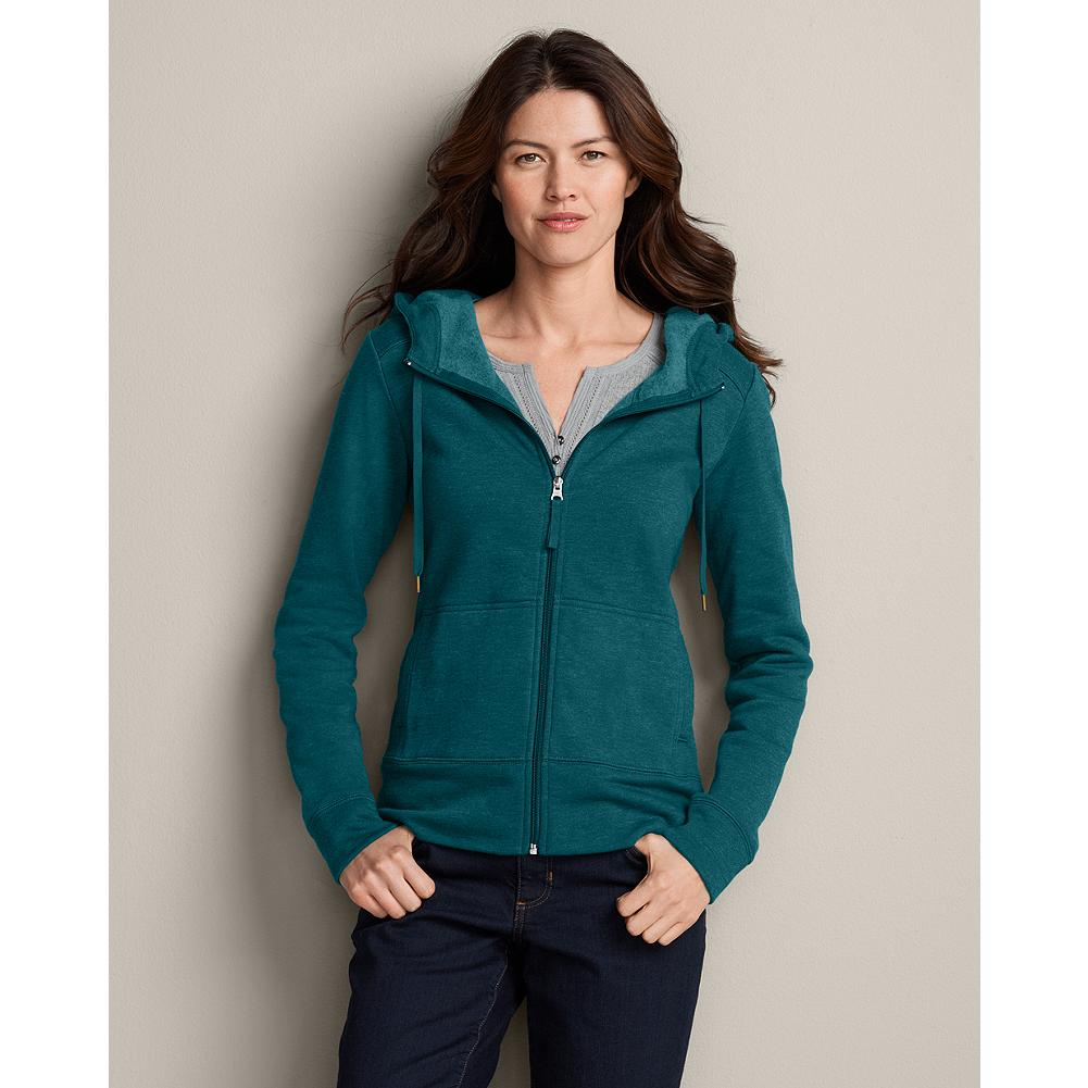 Eddie Bauer Cloud Fleece Hoodie - Our Cloud Fleece Hoodie is made of sumptuously plush fleece with a drawcord hood and cozy kangaroo pockets. Zip front and reinforced seams for added durability. Classic fit. Imported. - $29.99