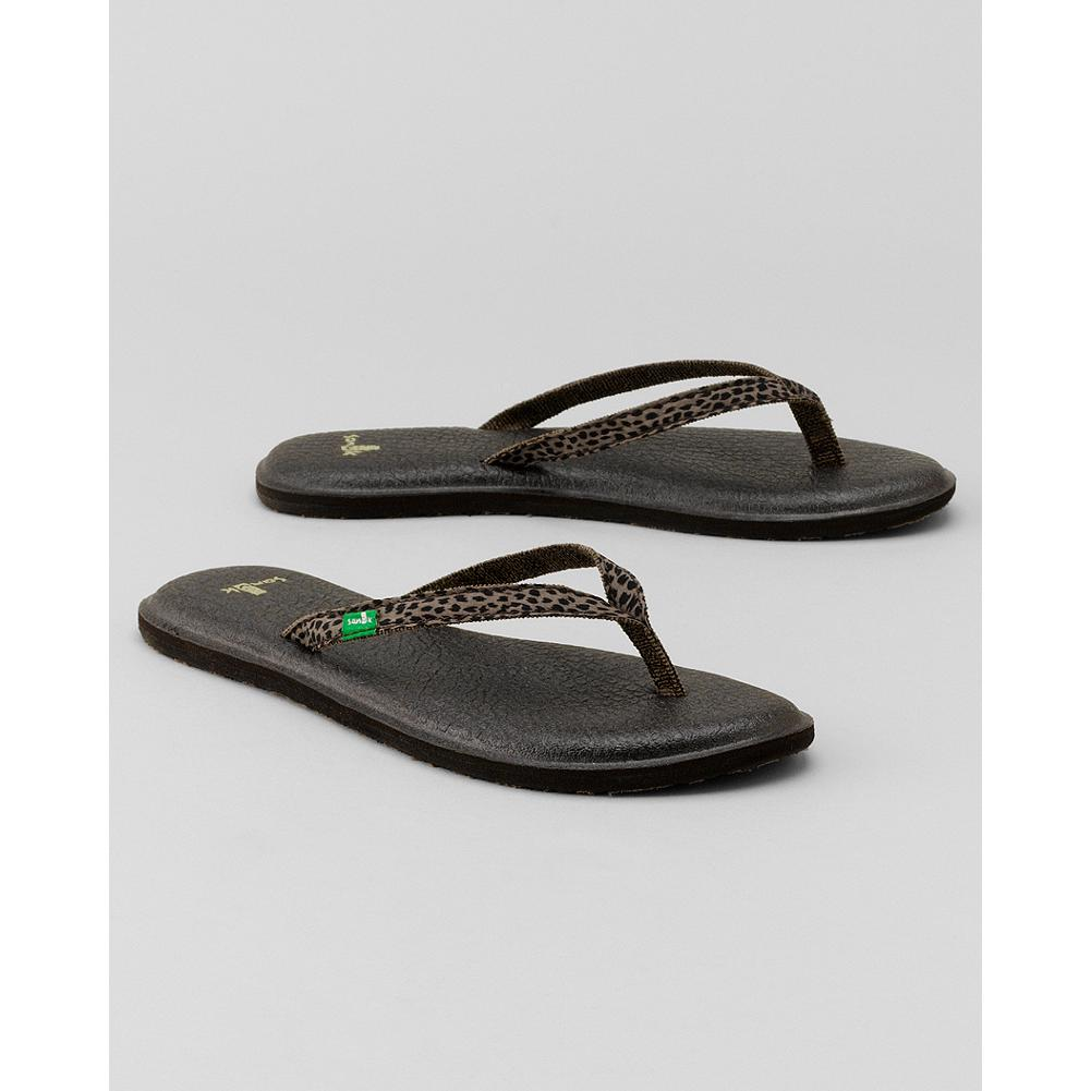 Entertainment Sanuk Yoga Spree Funk Flip Flops - These comfortable Sanuk flip flops feature woven straps with a webbing liner and ultra-soft, sealed-edge footbeds made from real yoga mats. - $19.99