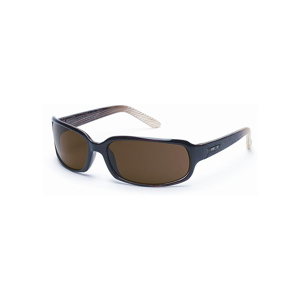 Entertainment Suncloud Uptown - Brown Stripe Sunglasses - Lightweight and comfortable thanks to their injection-molded grilamid nylon frame, these sunglasses feature polarized, impact-resistant, optically correct lenses and 100% protection from harmful UVA and UVB rays. Medium fit. Imported.. - $49.99