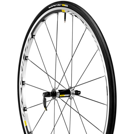 Collectively, we can't remember a wheelset that more of us have ridden and loved then the Mavic Ksyrium Elite Clincher Wheelset. We've followed it from generation to generation for one reason -- Mavic always manages make it better. This year, we find that the Ksyrium Elite has gone on a diet and stolen some of its siblings' technologies. Lighter, faster, and smoother than ever, the new age of the Ksyrium has arrived. For this iteration of the Ksyrium Elite, Mavic made strives to balance opposites -- it's trickier than it sounds. The objective was to increase stiffness, while also increasing compliance, and somehow at the same time, decrease weight. Needless to say, that to achieve this, Mavic loaded the Ksyrium Elites with proprietary, patented technology. Starting with the rims, Mavic again went with the venerable Maxtal aluminum alloy. Exclusive to Mavic, Maxtal was developed in order to crush the conventional 6061 alloy. In comparison, Maxtal provides a higher strength to weight ratio and is around 30% more resistant to stress. This strength is further expanded upon by Mavic's Soude Usine Process or SUP. When the rim is being shaped and welded, this process is responsible for arc welding the rim joint into a seam that's then given a smooth finish. It might sound fairly boilerplate, but this exclusive process improves wheel balance, eliminates brake shudder, and increases the overall strength of the rim. Now that we've covered the process of shaping the rim, it's time to bring spokes into the picture. Once again, Mavic utilized multiple production technologies to bolster the Elite's output and aesthetics. Where the spoke meets the rim, Mavic uses its Fore technology to eliminate drilling through the rim bed. The process involves pushing down on the lower of the two rim bridges, and then threading the alloy to allow the nipple to thread directly into it. - $799.90