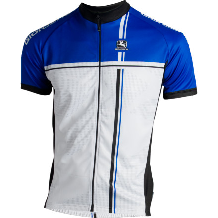 Fitness The Giordana Euro Fit Short Sleeve Jersey is a jersey that allows a bit more comfort in the design. It's a 'club cut' that is designed to fit a bit looser around the torso than many of Giordana's offerings while still following the body's contours.Giordana utilizes its popular Michron material in all the jersey panels. It's popular for good reason: it's light, breathes well, wicks well, can be worn alone on hot days or comfortably over a base layer on cool. Keeping with the comfort ethos, the sleeves have no elastic or gripper material at the cuffs. The waist has a light elastic around the hem to keep the jersey in place when the three rear pockets are full.The jersey has a full-length zipper with an easy-to-grab tab hanging off the pull.The Giordana EuroFit Short Sleeve Jersey comes in Blue, Lime, and Red. Sizes run from Small to XXX-Large. - $50.00