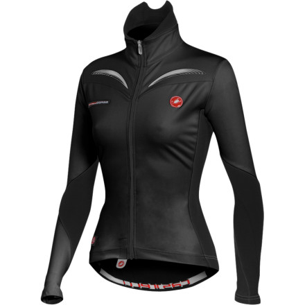 Fitness There aren't too many brands that mix function with form as well as Castelli. With the Castelli Women's Trasparente Full Zip Long Sleeve Jersey, you can count on having all the necessary coverage from the wind and cold, while still feeling sleek and elegant enough to be able to face your other lady friends in the street should they unexpectedly pull up next to you at a stoplight in their soccer-mom-SUVs.As part of the Rosso Corsa top line gear, the Women's Trasparente Jersey is among the jewels in the Castelli crown. Castelli uses their X-Lite stretch Windstopper fabric for the front panels, forearms, and over the tops of the shoulders. This specific placement makes the jersey effectively wind resistant without inhibiting your freedom of movement. The X-Lite incarnation of the Windstopper fabric has great horizontal stretch, giving you ample room to move if you need to reach back to your pockets, or find yourself raising your arms in a victory salute. The same built-in membrane in the X-Lite that makes it windproof also makes it water resistant enough to quell worries of road spray or light rain penetrating the jacket and cooling off your core. The interior of the fabric has a nice layer of brushed poly to make it feel snug and warm. The fleecy inner surface also helps its fantastic wicking capabilities. And since the X-Lite has upwards of ten times the breathability of other wind protection fabrics, the Trasparente works to keep your perspiration from building up and cooling you off. The contrasting panel that covers most of the back and part of the forearm is made from what Castelli calls their Warmer Fabric. It's a mega plush, fleecy fabric that offers thermal insulation and moisture management. It also provides for a one-way, horizontal stretch which is important when you have your three rear pockets loaded, but nevertheless you want them to stay rock solid and centered on your back. Castelli made certain to include a generous 3. - $104.96