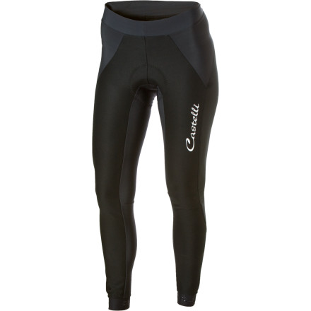Fitness If you're like us, you find it difficult to get the most out of your legs when they get cold and windblown. What you need is windproof protection. These Castelli Corrente Women's Wind Tights are just the thing, and they're as stretchy and comfortable as your favorite yoga pants.Made from their revolutionary SGO.6 Windproof stretch fabric, the Corrente Wind Tights are not only wind proof, but also incredibly water resistant. The SGO.6 is used on the upper parts of the legs. It has a lightly brushed back for greater insulation while a membrane laminated inside provides effective resistance to seeping moisture. This membrane is also what makes it wind proof. For the rest of the tights, Castelli uses Thermoflex fabric. It's a nylon/lycra blend, brushed on the inside for warmth while the exterior of the fabric has a silicon finish that works as a water repellent layer. The stretch-ability of the fabric also means that youll be able to slip into them like a second skin, keeping you looking lean and aero on the bike. Castelli includes their Kiss 3 women's-specific chamois. Designed for women's anatomy and what you demand for all day comfort, the Kiss 3 chamois has a seamless layer right next to the skin which is made from a soft brushed microfiber. Having no seams means no chafing causing unwanted saddle sores, while it has been given a bacteriostatic treatment to help prevent infection of delicate tissues. The Kiss 3 also succeeds in offering a dual thickness strategically placed throughout the insert. There is a minimal thickness around the ischial zone then it beefs up for the perineal area until it tapers off as it reaches the outskirts of the chamois. Anatomically cut for the woman's body, the Kiss 3 insert will never burden you with a full frontal wedgy, rather it will allow your undercarriage to sit comfortably in the perfect 'zone. - $112.46