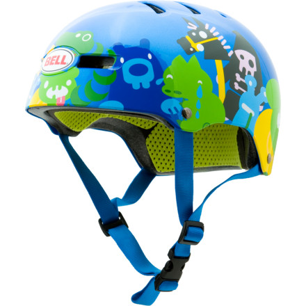 Fitness Give your little ripper the gift of the safety with the Bell Youth / Kids Fraction Bike Helmet so that they can bike, skate, and bang their head against the wall with full protection. Bell infused the Fractions shell with EPS foam for added durability and strength rather than combining two separate layers. The easy to adjust Ergodial, pinch-proof chinstrap, and camlock ear straps all work together to give your child a dialed-in fit. - $35.96
