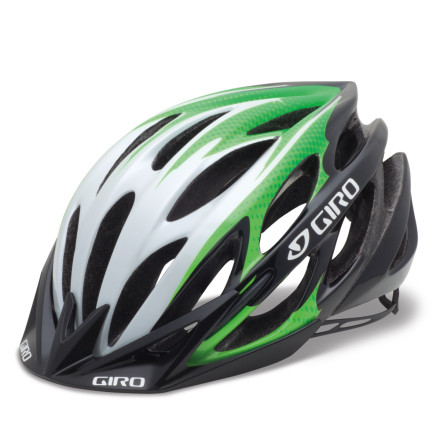 "MTB The Giro Athlon was created in response to their efforts to better the hugely popular E2 Helmet. In Giro's world this is true -- make it better or don't waste the effort. Well, they didn't waste their time. The Athlon betters its predecessor by moving air more efficiently over the rider's head, and its shape has been improved by Giro's attention to ""form language.""You shouldn't be surprised. Giro would never release a new helmet that didn't outperform the one that came before it. Even though the vents in the Athlon appear smaller than what you remember on the E2, Giro has improved their internal channeling to move that air over your head faster and easier. There are a total of 23 wind-tunnel-tuned vents for both intake and exhaust.The Athlon's shape is more in tune with a human head than the E2. This is actually something we'd struggled with when checking out the E2. We liked the vents, the Roc Loc, etc, but the helmet didn't work with our aesthetic sense. It turns out that Giro felt this way too. So the shape is more organic but still has an aggressive quality about it. The Athlon also sits a bit lower on the head which helps it seem to disappear when riding.The Athlon uses Giro's latest retention system, Roc Loc 5. The advantage over the older Roc Loc 4 is that you can make micro adjustments to the retention basket with a thumb and finger -- simply twist the ratcheting dial to achieve perfection. The whole system can be adjusted up and down to cradle the back of your head just as you like. Some of Giro's forward thinking gave rise to the special shape of the arms -- they allow the use of Giro's eyewear without interference, and they maintain the position of your straps so getting the helmet on is a no-muss, no-fuss affair. The Giro Athlon Helmet is available in Black/charcoal and Matte White and in three sizes -- small, medium, and large. The visor has 15 of vertical adjustability for optimal protection/visibility, and it's removable as well. - $107.96"