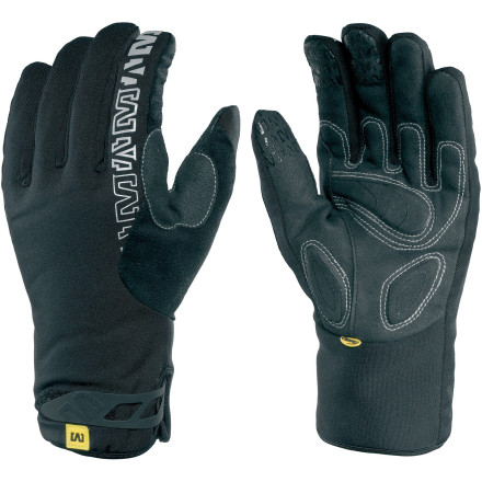 Fitness Subfreezing temperatures are a enough to keep the most dedicated cyclist indoors. However, if you're willing to make a small investment into proper riding attire for beyond frigid days, you can pedal through just about anything. Case in point are the Mavic Inferno Gloves. If you're anything like us, your hands are the first extremities to succumb to the freeze. No longer. With a claimed degree of protection down to five degrees Fahrenheit, the threat of frozen digits are no longer an excuse to roll on the indoor trainer. Starting with the shell of the Inferno, Mavic covered the uppers with the patented Thinsulate insulation fabric. This material provides the perfect ratio between dexterity and insulating warmth. What we mean by this is that an all-to-common ailment of low-temperature gloves is the loss of full movement. However, Thinsulate, as its name suggests, is extremely thin, leading to an easy articulation of your fingers. Additionally, this fabric is extremely warming. As we previously stated, Mavic suggests using these gloves between the temperatures of five and forty degrees Fahrenheit. But, don't let that wide temperature range scare you off from using these in the upper 30s. We say this because Thinsulate is quite effective at wicking away excess moisture from the skin. So, within the recommended range, your hands will remain dry and comfortable, mile after mile. And going a step even further, Mavic has fully-taped the seams of the gloves in order to compliment Thinsulates water-resistance. So, with the extra addition of a DWR finish, the Inferno is capable of withstanding water up to 4000mm water column. And while the element protection of the Inferno gloves is fabulous, warmth is only important part of the equation. Of course, vibration absorption and adjustability are the others. So, Mavic incorporated what it calls its Ergo Palm Concept with the Inferno. - $35.97