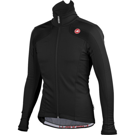 Fitness If being able to see your breath was ever an excuse not to ride, no one's ever tried to use it on Castelli. The Castelli Zoncolan Jacket gives you a tangible advantage over Mother Nature. As tough as the legendary Italian climb, the Zoncolan is windproof, water-resistant, and warming in temperatures as low as 32 degrees. The Zoncolan is an excuse-killer of a jacket that leaves no reason to avoid putting in your base miles. Castelli's Zoncolan Jacket is made from the legendary Windstopper X-Fast 2 fabric. Both windproof and water-resistant, this W.L. Gore fabric is also highly breathable -- providing dependable warmth in frigid conditions without making you a sweaty mess. For extra protection on wicked winter descents, Castelli added a flip-up, fleece-lined Thermoflex collar to keep the wind from biting your chest and neck. The Zoncolan also features three external back pockets for your portables, and has an elastic band to keep the jacket from riding up. The Zoncolan is the go anywhere, do anything jacket for winter. The Castelli Zoncolan Jacket is available in six sizes from Small to XXX-Large and in the colors Black, Cyan/black, and White/red/black. - $139.96