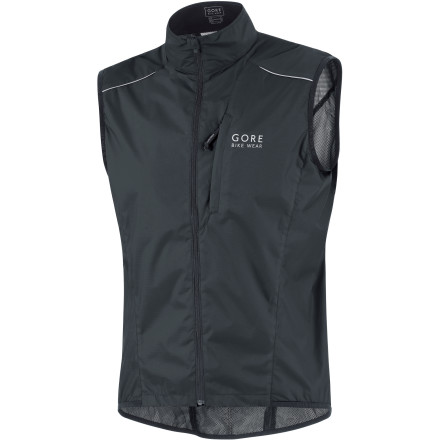 Fitness If you're a serious cyclist and don't have a vest in your wardrobe, you're missing an essential piece of gear. The Gore Bike Wear Countdown AS Vest has everything you need in a sleeveless, windproof-front, zip-up garment. What separates this vest from the others are the materials and the details. Firstly, it's made of Gore Windstopper Soft Shell -- it's windproof, highly water resistant, breathable, and supremely comfortable. Secondly, the multiple panels are designed with an adherence to Gore's idea of Slim Fit. So just like your race jerseys, it won't flap or flutter in the breeze. Stretchy lycra hems at the waist and sleeve holes further perfect the fit. Another nice detail is the storm flap under the zipper that ensures you won't experience rubbing/chafing/catching of skin or jersey under the vest. And there's a zipper dock at the top, so it won't chafe your neck when fully zipped. A mesh insert in the back keeps it from keeping you too warm, allowing an escape route for the buildup of body heat as you ride. That's also where you'll find two stash pockets for easy access to snacks. But in case you pulled your jersey out mid-ride and left your snacks in the jersey pockets, the back of the vest has openings on either side of its pockets to reach inside and into the jersey pockets for your next gel fix.The Gore Countdown AS Vest is available in Blue, Black, and Red and comes in five sizes from Small to XX-Large. And, like all Gore garments, there is reflective piping and logos in the front and rear -- after all, being seen in inclement conditions is key. - $87.96