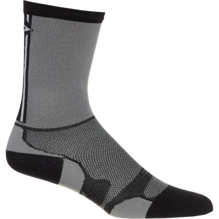 Fitness Self-propelling yourself toward the podium can be tough on your body, but the Defeet LeviTator Lite 5in Cuff Hi-Top Bike Sock helps to regulate your foot's temperature and sweat so you can cruise through the pack with ease.CoolMax EcoMade (recycled plastic bottles) and nylon dry quickly, breathe, wick moisture, and resist the growth of odor-causing microbes Recycled fiber reduces materials in the landfill and helps reduce fossil fuel consumption to help our planet Minimal toe seam prevents rubbing and blistering during long rides or runs Nylon provides long-lasting durability Lycra in the arch hugs your foot's natural shape to keep it in place and feeling right in your shoe 360-degree mesh encourages ample breathability and isn't bulky in your cycling shoe Cuff doesn't move no matter how you train or condition yourself for races Mid-calf height features a five-inch cuff and prevents rubbing from the collar of your shoe and helps deter ankle-to-chain encounters - $5.98