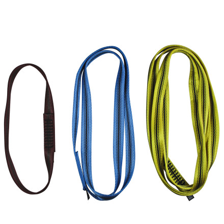 Climbing Don't waste your time cutting and burning webbing when you can snag a Metolius 18mm Open Nylon Sling and have that much more time at the crag. - $3.90