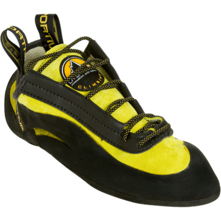 Climbing Climbers everywhere have come to trust the La Sportiva Miura Vibram XS Edge Climbing Shoe for the hardest, most technical pitches out there. The super-aggressive shape ensures precision footwork when the beta demands it, and a synthetic lining keeps this shoe from stretching and outgrowing your feet. - $159.95