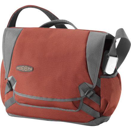 Camp and Hike Don't sweat airport security when you travel with the Keen Harrison Check Point Messenger Bag. Featuring a dedicated laptop compartment, the Harrison also offers multiple travel-friendly pockets for ultimate organization. Water-resistant polyester and a TPU coating mean that if you're caught out in the rain waving down a taxi, you're not worried. - $119.95