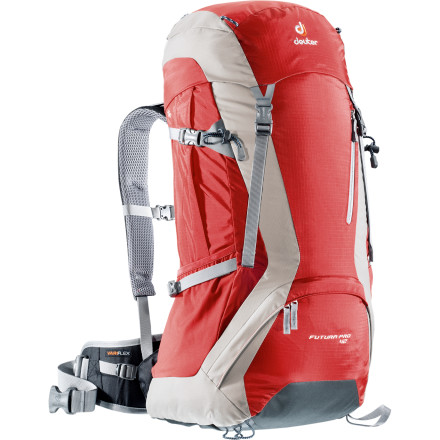 Camp and Hike The Futura Pro 42 Backpack gives you just enough room for your overnight essentials. High-tech design keeps you cool by allowing fresh air to pass over your back, under your shoulder straps, and under your waist-belt, so you stay comfortable and don't have to sweat quite so much. - $159.00