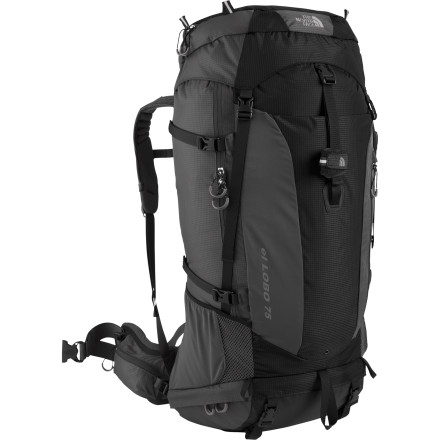 Camp and Hike A lightweight design, advanced support, and an expandable main compartment make The North Face El Lobo 75 Backpack a comfortable and convenient choice for your extended adventures into the bush. Not only does the pack carry up to sixty pounds of your backpacking essentials, its adjustable harness gives you the most customized fit of almost any pack out on the trail. - $202.27
