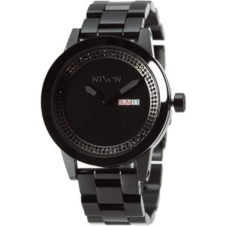 Entertainment A watch isn't just about knowing what time it is. A watch is about showing that you've arrived, that you've made it, and that you're a grown up. The Nixon Spur Watch amplifies its straightforward style with obvious quality and a diamond accent at the six o'clock mark. - $197.95