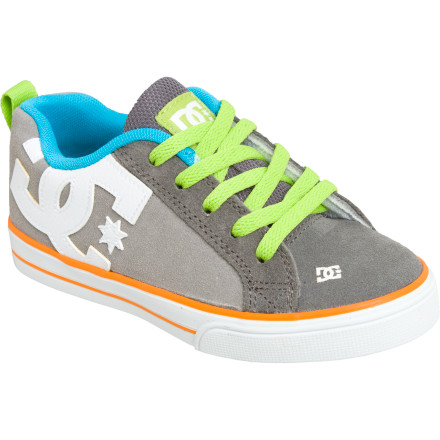 Skateboard How did DC make what is possibly its most recognized shoe even better for skating' DC fused a tacky and flexible vulcanized sole to the Boys' Court Graffik Vulc Skate Shoe to give you added feel when it's time to ditch homework and work on your flips. - $25.80