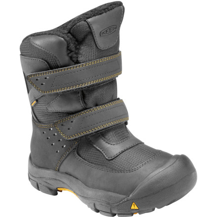 The Keen Little Kids' Kalamazoo High WP Boots offer huge protection for little feet. These boots are great for those days when the wet stuff is coming down, but your little adventure still has an outside world to explore. - $74.95