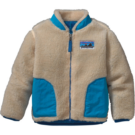 The Patagonia Retro-X Jacket combines style and warmth for your little guys winter trek to school or the bus stop. Durable fleece provides wind protection while a tapered collar prevents chin chafing. Double-layer patch hand-warmer pockets serve as a suitable replacement if he forgets his gloves, and a slight drop-tail design adds protection on extra blustery days. - $55.30