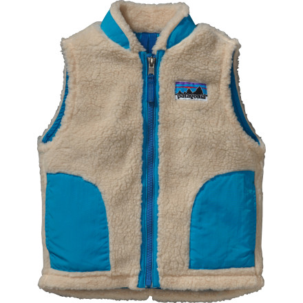 The Patagonia Retro-X Fleece Vest keeps your little guy warm and cozy from the backyard to the playground. The  1/4in-thick fleece and a lightweight nylon interior lining mean this vest works well over a tee on fall days and layers easily under a jacket when winter starts to roll in. - $35.40