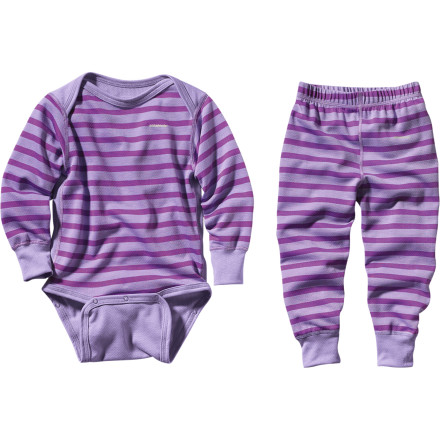 Entertainment Dress your tot in Patagonia's Capilene 3 Midweight Set. Polartec Powerdry fabric adds a comfy, warm layer beneath your little girl's snowsuit. - $50.00