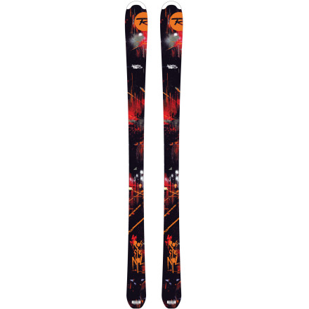 Ski Sure, your ski-clad spaz spends his on-snow time hitting jumps and boxes, but you want him to be able to follow you around the rest of the mountain too. Arm him with the Rossignol Scimitar Jr Ski for mastering all corners of the resort. He'll easily follow you around the frontside or back bowls, but he'll be poking in and out of the trees like a mini-yeti thanks to the please-turn-me feeling of the Scimitar. Once you let him loose on the rail garden, the turniness of this lightweight twin-tip supplies him with the quickness he needs to try new tricks and recover from not-so-smooth landings. - $109.97