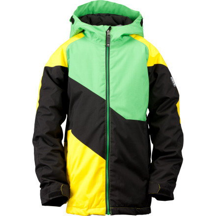Snowboard Developed for lively youth loose on the hill, the Ride Boys' Hemi Jacket defends against chills and falling flakes with all-over 80g fill and 5K-rated waterproofing. - $48.98