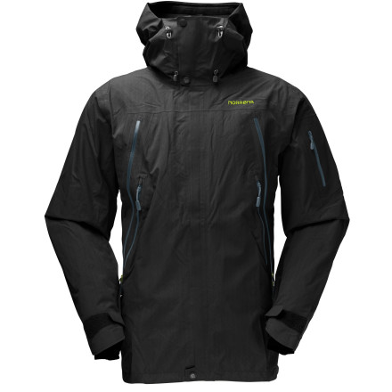 Snowboard Norrona designed the Men's Narvik Gore-Tex Performance Shell Jacket for the resort ripper with a penchant for comfort. Optimal ventilation for the quick slack-country walk or even longer excursions. - $285.29