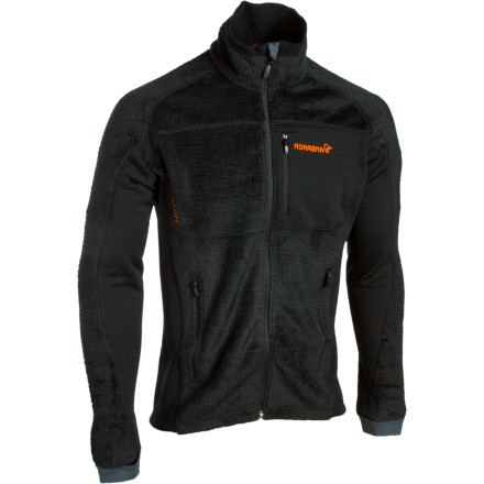 The Norrna Mens Lofoten Fleece Jacket features high-loft Polartec Thermal Pro, which offers the highest warmth-to-weight ratio of any Polartec fabric ever. This cozy fleece materials fuzzy surface traps air in pocketsyour body heats the air, and you feel toasty. This Norrna jacket fits closely and stretches so you ride or schuss unhindered. Constructed with seamless lamination, this jacket glides over and under your other layers with ease. - $176.72