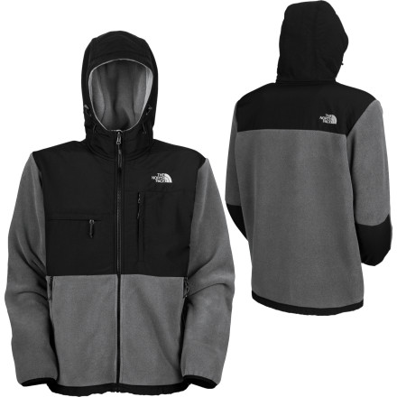 The North Face developed the Men's Denali Hooded Jacket because you can't go wrong with more of a good thing (that 'good thing' being the same cozy 300-weight fleece reinforced with wind- and abrasion-resistant nylon that made the original Denali an outdoorwear icon). Now your head gets to enjoy that same warm, breathable comfort whether you're trekking hut-to-hut or bar-to-bar. - $139.27