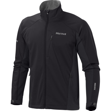 Fitness Functionally formed and fitted for fitness, the Marmot Men's Leadville Softshell Jacket features lightweight WindStopper fabric that slices through wind like a Ginsu knife through wasabi. Not into knives' How about a high-caliber mid-layer with water-repellent, breathable fabric and venting side panels that dump heat while you bike, run, ski, or climb' Not too shabby, particularly if you consider the Angel-Wing underarm gussets that let you move freely, like nature intended. - $159.95