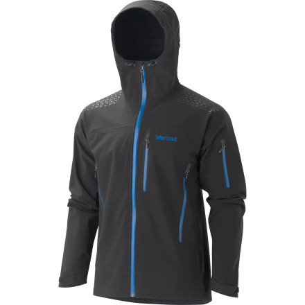 Camp and Hike The days of skinning or hiking in a sweat-box are long gone when you wear the Marmot Men's Zion Jacket. The water-resistant, breathable, and wind-resistant Polartec Neo Shell fabric delivers the protection of a hard shell with the breathability and mobility of a softshell. - $250.22