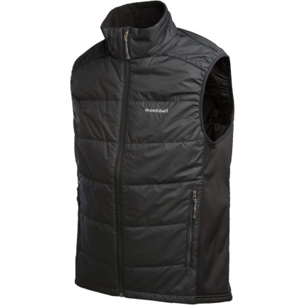 Fitness MontBell sought to please the gram-counting winter warriors out there with the five-and-a-half ounce Men's Ultralight Thermawrap Vest. Tough, durable shell material allows this vest to pack into a running bag, backpacking pack, or winter touring pack easily, and synthetic insulation brings supreme warmth without the weight. Melding an athletic, active cut with stretchy side panels, this vest is one you won't see fit to leave basecamp without. - $118.95