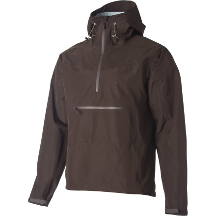 Camp and Hike Designed with a clean, anorak-style cut and waterproof breathable fabric, the Men's Vaporshell 3L Anorak eschews bells and whistles in order to offer you simple, effective protection against the elements. Torrential downpours, horrid winds, and turn-back-now conditions don't scare this Stoic jacket. This jacket was made to keep you comfortable while you backpack, hike, and move through the nastiest weather. All that and the Vaporshell Anorak packs down small enough to easily slip into your daypack without requiring you to leave anything behind in trade. Not too shabby, right' - $76.45