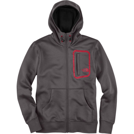 The North Face Men's 88 Blocks Full-Zip Hooded Sweatshirt has style and function that works in the mountains or around town. The compressible polyester fleece shell keeps you looking fresh when you head down to the coffee shop, and the sewn-in balaclava helps you stay warm on chilly nights. - $44.98