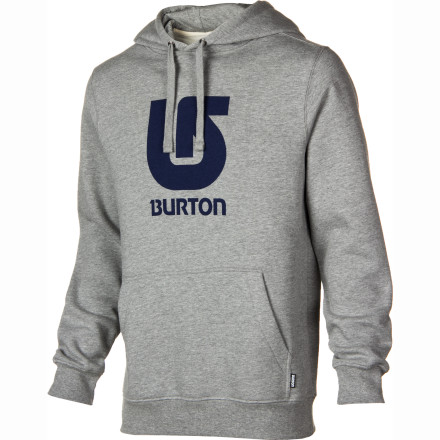 Snowboard When future civilizations dig through the rubble of our culture, they will pronounce the hoody to be our greatest accomplishment. The art of combining a jacket, a sweater, a hood, and a kangaroo pocket into one article of clothing will be viewed as the zenith of our skill. The Burton Logo Vertical Pullover Hooded Sweatshirt gives you all of that hoody-goodness and dresses it up with a comfortable cut and Burton branding to boot. - $38.21