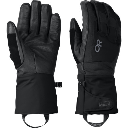 Ski The Outdoor Research Coup Gloves utilize a Ventia Dry insert to ensure that your hands stay dry while you're slashing through sidecountry snow. These high-tech insulated gloves create a warm, breathable micro environment for you paws so you won't even notice the cold. - $42.22