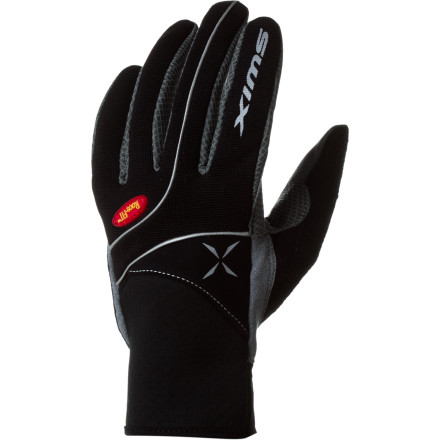 Ski Slide on the Swix Men's Stride Glove, grab your pole, and push out towards the freshly groomed tracks. Race fit technology and Cool-prene cuffs supply optimal comfort, feel, and compression while you train and enjoy the cold fresh air. - $36.95