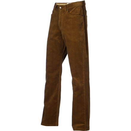 As comfortable at the crags as in the city library, the Mountain Khakis Canyon Cord Pant yields soft, mobile fabric with a well-read style. Stretchy cotton corduroy feels and looks great, and a diamond gusset allows big moves on the rock or trail. - $89.95