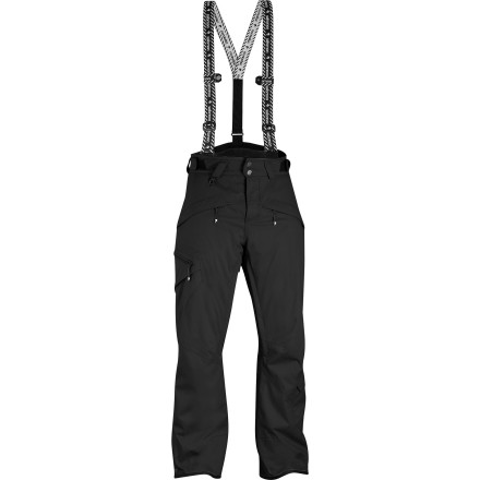 Ski Like to wear your pants big and hate too much insulation' You'll love the Salomon Men's Reflex Pant. This lightly insulated pant features waterproof breathable fabric, full seam taping, a comfortable relaxed fit, and a set of removable suspenders that keep your britches in place. Open up the vents during a hot hike up the ridge and then blast back to the canyon floor while your powder boards keep you and your Reflex pant floating high. - $123.47