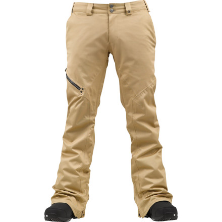 Snowboard The Burton GMP Clifton Pant is part of a collaboration between Mountain Dew and Burton's Green Mountain Project. The slim-fitting Clifton is constructed natural materials and fabric woven from broken-down Dew bottles, you can now have some extra peace of mind you're doing something to protect the very mountains you're riding. - $101.94